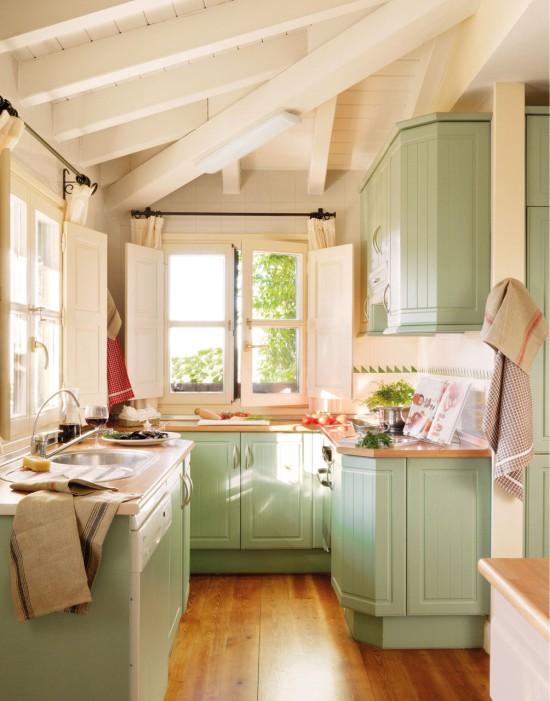 дизайн кухни с окном – подоконник-столешница