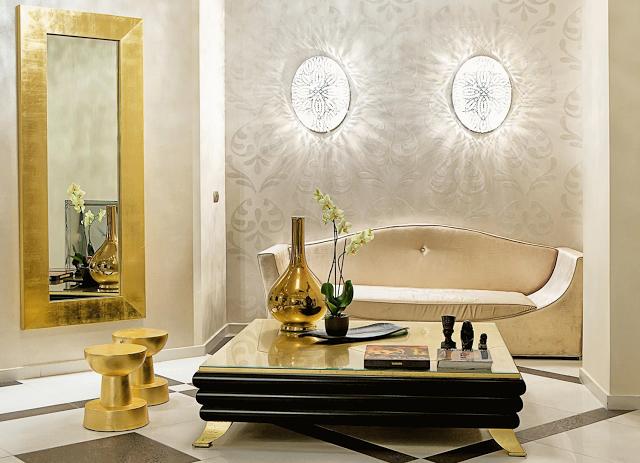 золото в дизайне интерьера