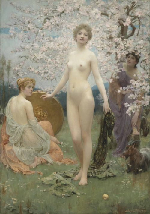 """Картина """"Суд Париса"""" 1891"""