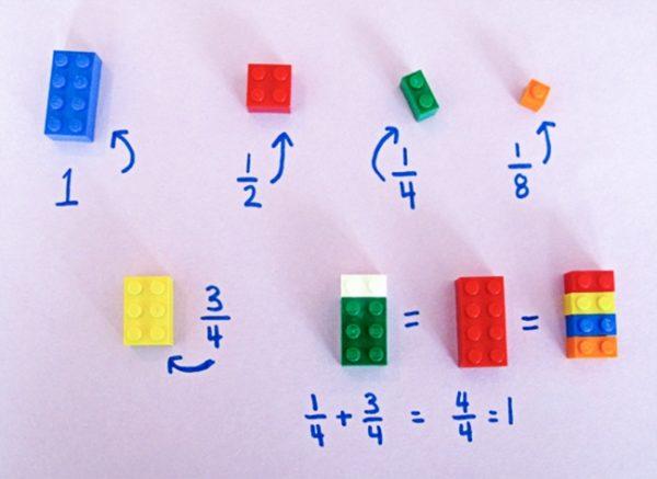 Как объяснить ребенку что такое дроби с помощью Лего