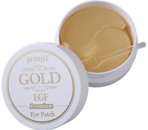 Гидрогелевые осветляющие патчи для глаз Petitfee Premium Gold & EGF Eye Patch