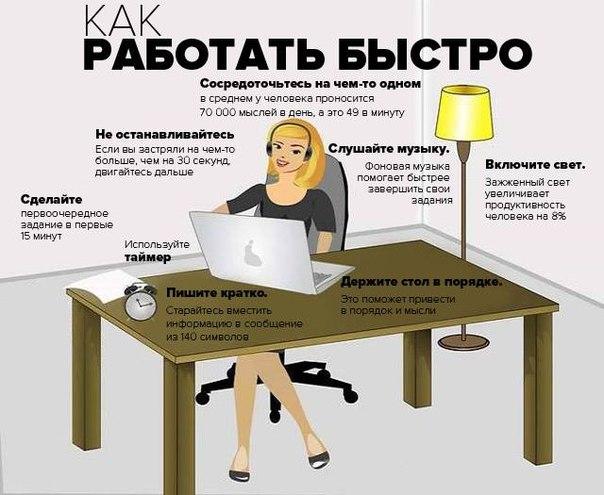 Как работать эффективней