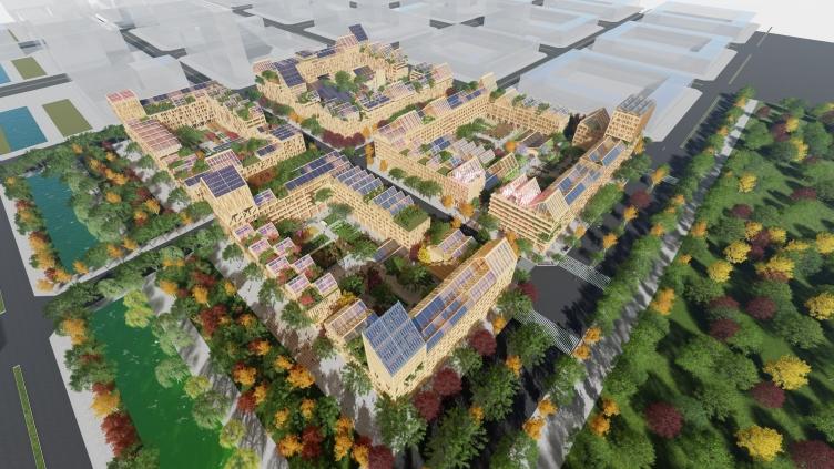Жилой массив нового города Сюнъань