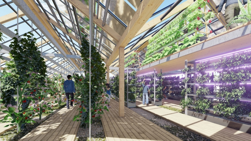 На крышах будут теплицы для выращивания овощей