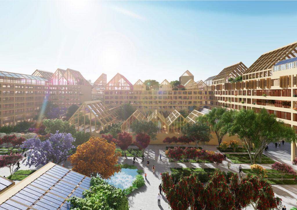 Строительство нового города Сюнъань