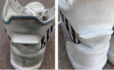 Как отчистить замшевые кроссовки