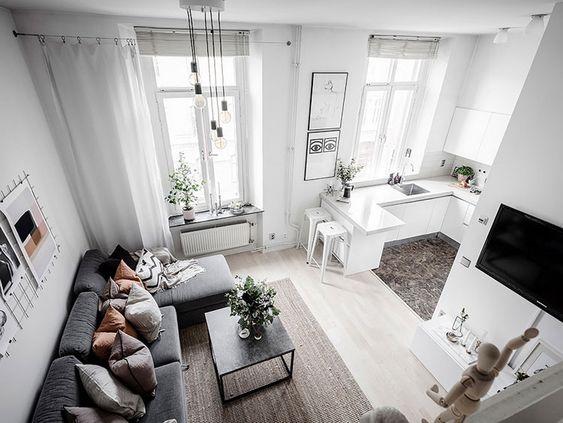 Дизайн однокомнатной квартире и организация пространства