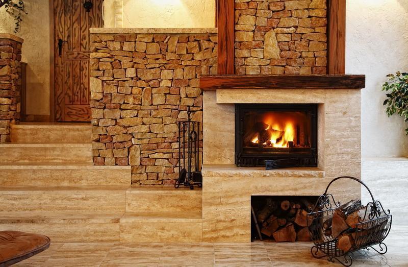Камин дровяной для дома