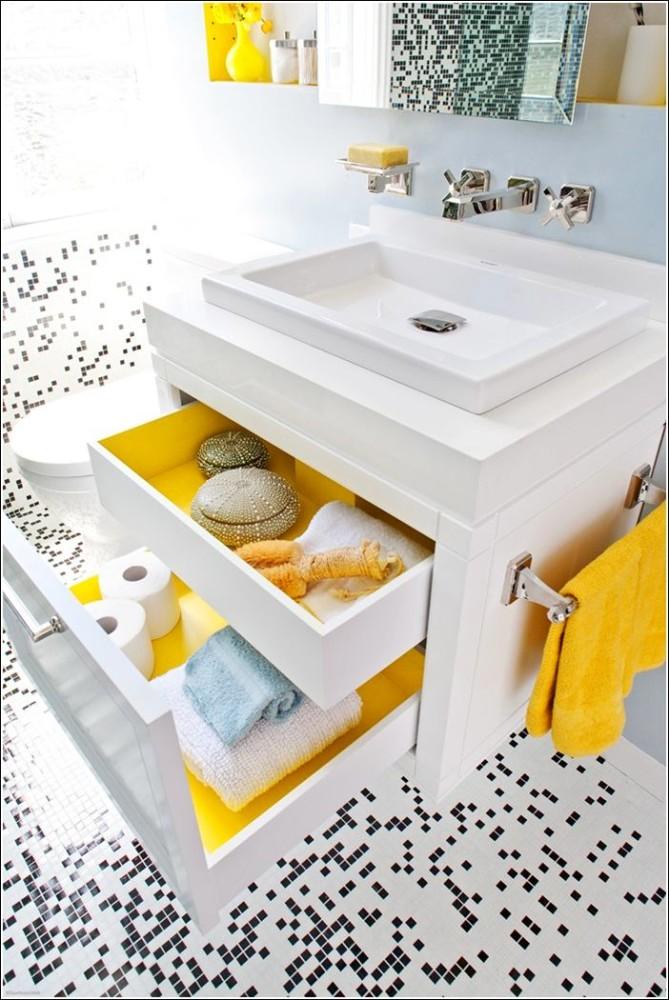 Хранить вещи в маленькой ванной