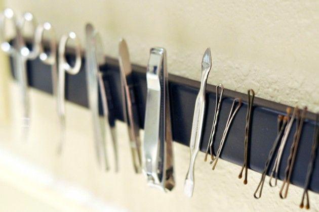 Магнитный держать - недооцененная вещь не только для кухни, но и для ванной